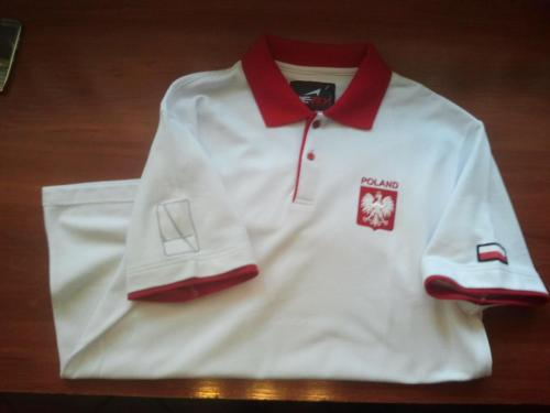 koszula meska bialo-czerwona