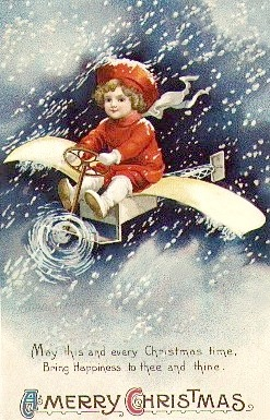 vintage-little-boy-airplane-christmas-card